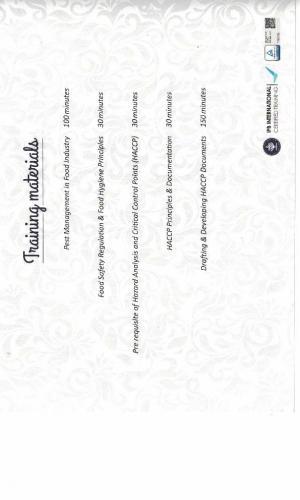 Sertifikat HACCP (Belakang)