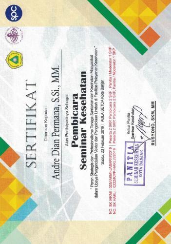 Sertifikat Seminar Banjar