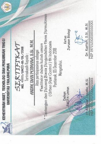 Sertifikat Tanjung Pura