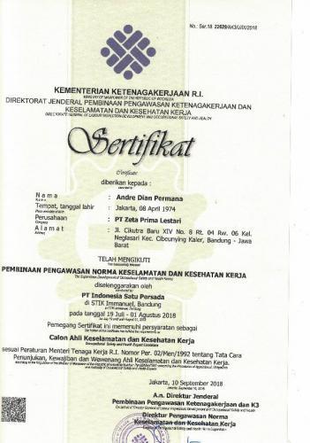 sertifikat K3